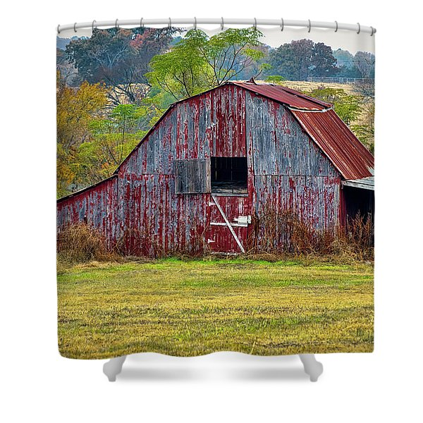 Barn On White Oak Road 2 Shower Curtain