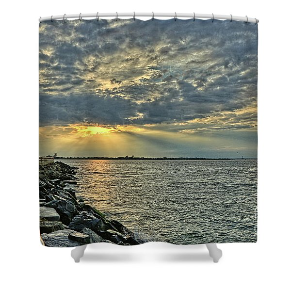 Barneget Lighthouse  New Jersey Shower Curtain