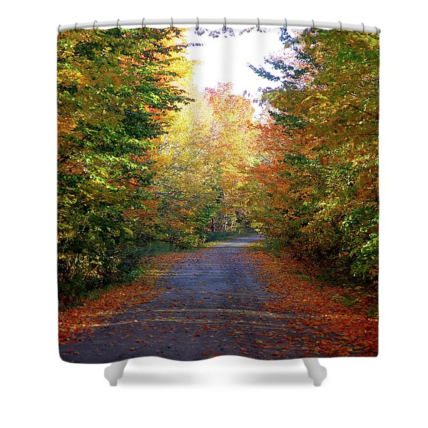Barnes Road - Cropped Shower Curtain