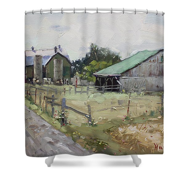 Barns And Old Shack In Norval Shower Curtain