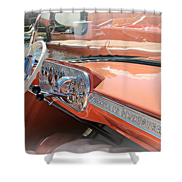 Barracuda Sportster Dash Shower Curtain
