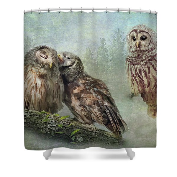 Barred Owls - Steal A Kiss Shower Curtain