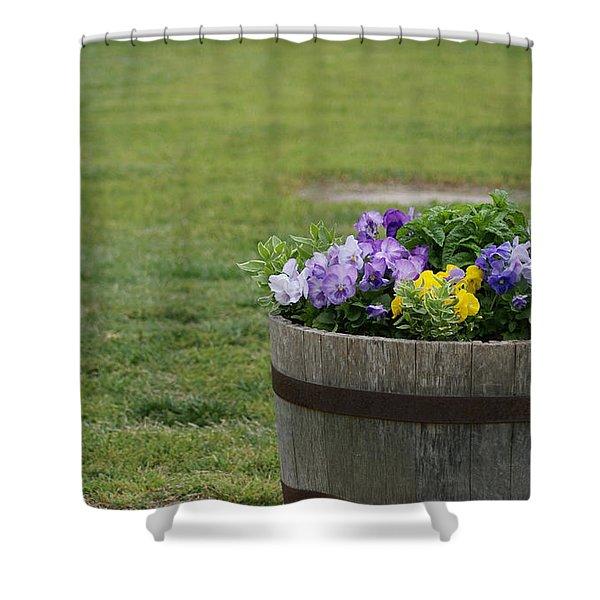 Barrel Of Flowers Shower Curtain