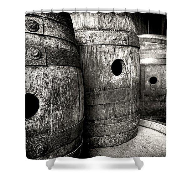 Barrels Of Laugh Past  Shower Curtain