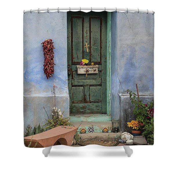 Barrio Door Shower Curtain