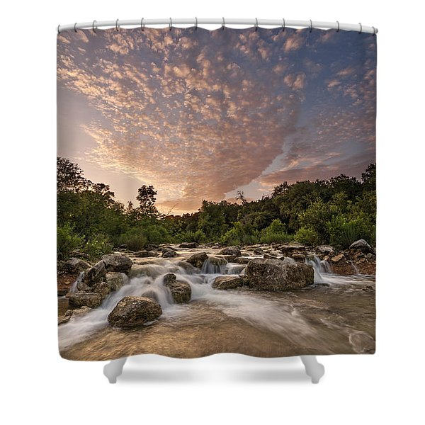 Barton Creek Greenbelt At Sunset Shower Curtain