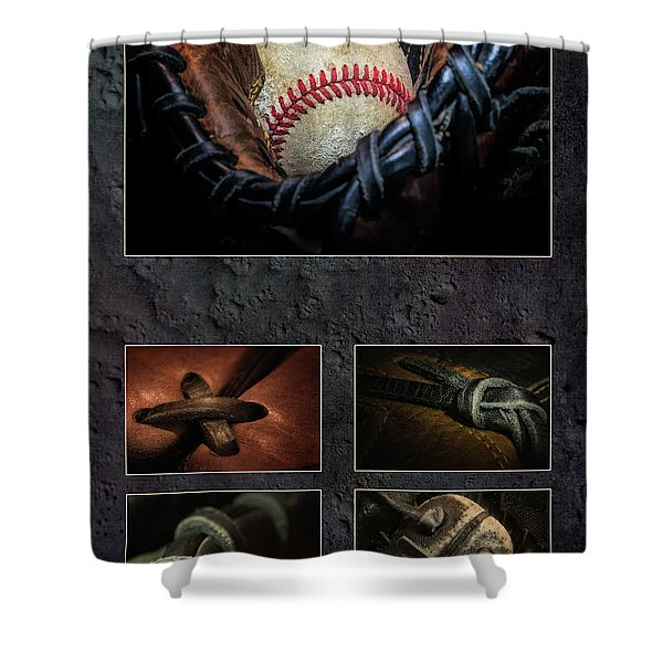 Baseball Collage I Shower Curtain