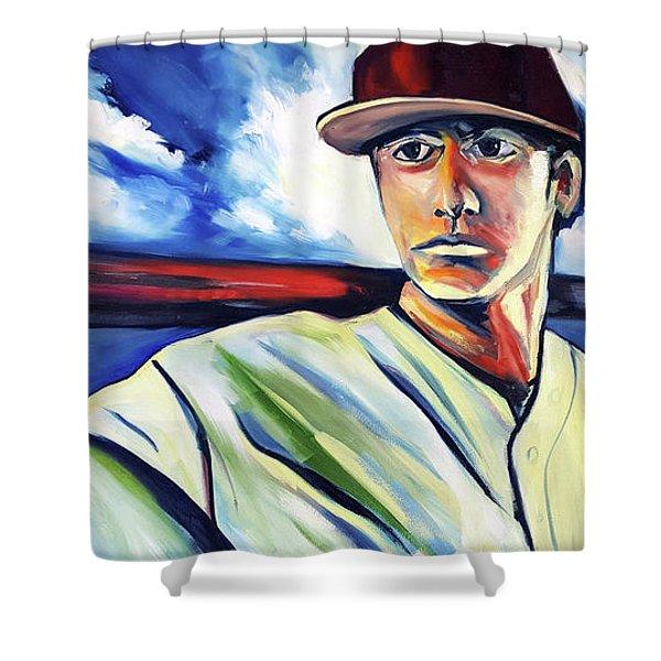 Baseball Crucifix Shower Curtain