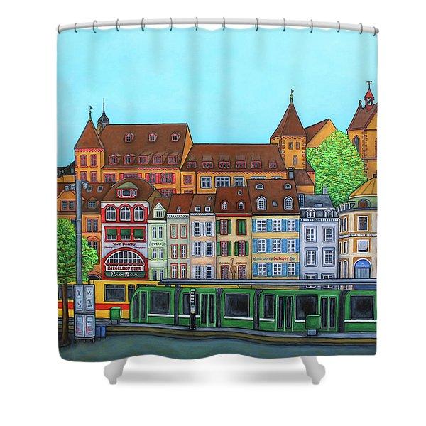 Basel, Barfusserplatz Rendez-vous Shower Curtain