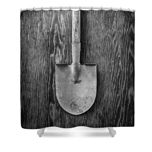 Basic Shovel Shower Curtain