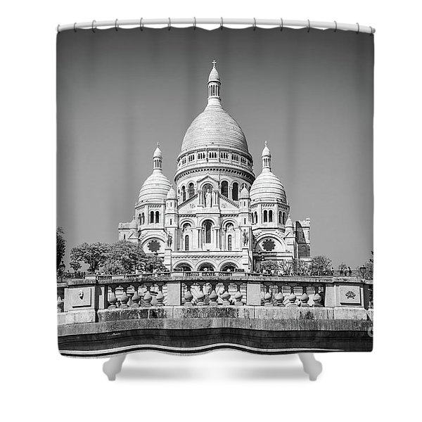 Basilica Of The Sacred Heart In Paris Shower Curtain