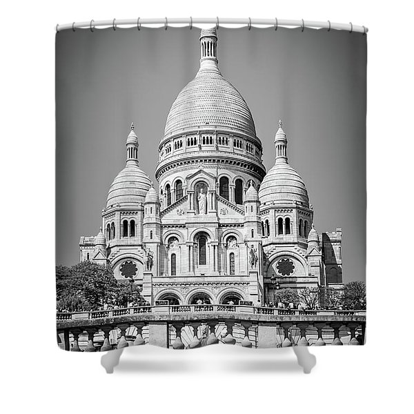 Basilica Of The Sacred Heart In Montmartre Shower Curtain