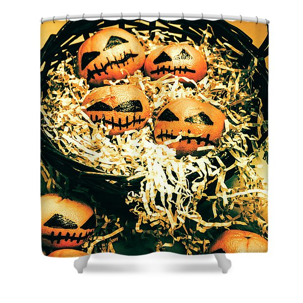 Basket Of Little Halloween Horrors Shower Curtain