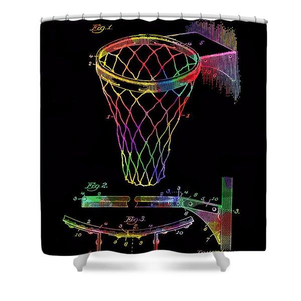 Basketball Goal Vintage Patent 1924 Shower Curtain