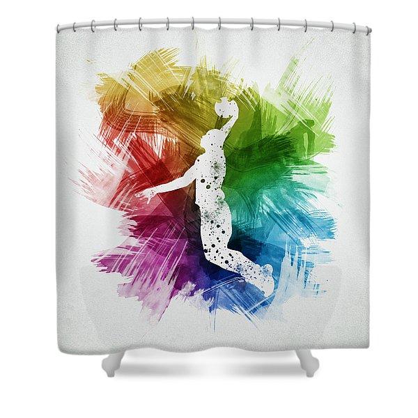 Basketball Player Art 03 Shower Curtain