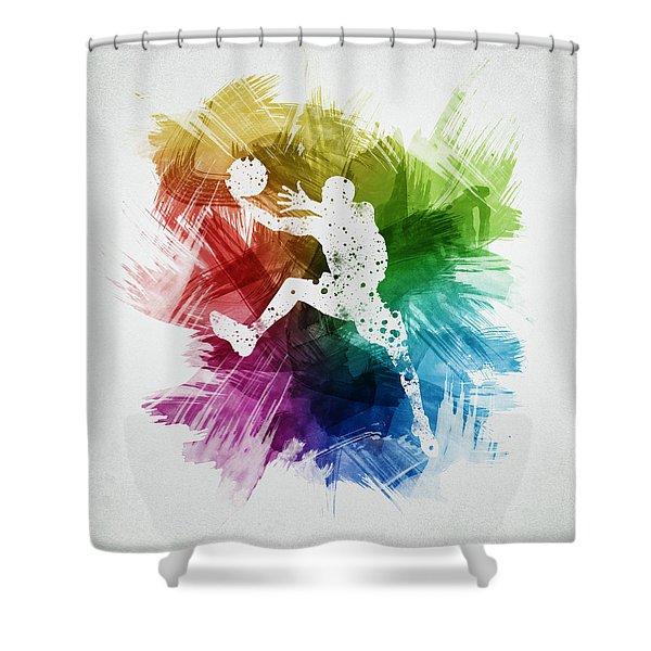 Basketball Player Art 04 Shower Curtain
