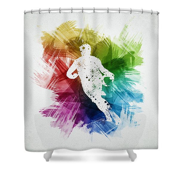 Basketball Player Art 08 Shower Curtain