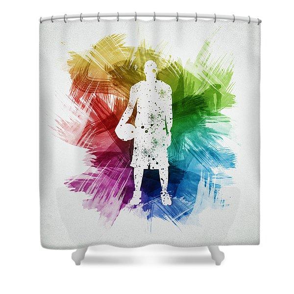 Basketball Player Art 10 Shower Curtain