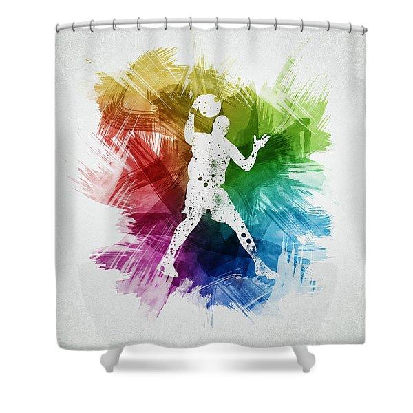 Basketball Player Art 11 Shower Curtain