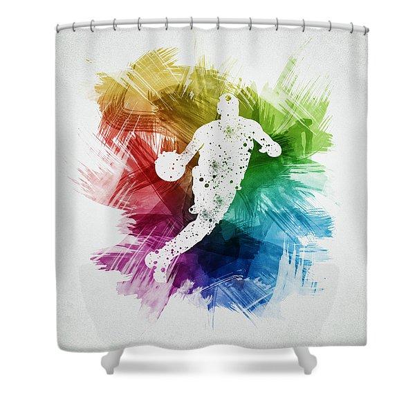 Basketball Player Art 20 Shower Curtain
