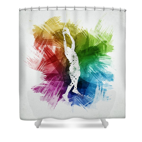 Basketball Player Art 25 Shower Curtain