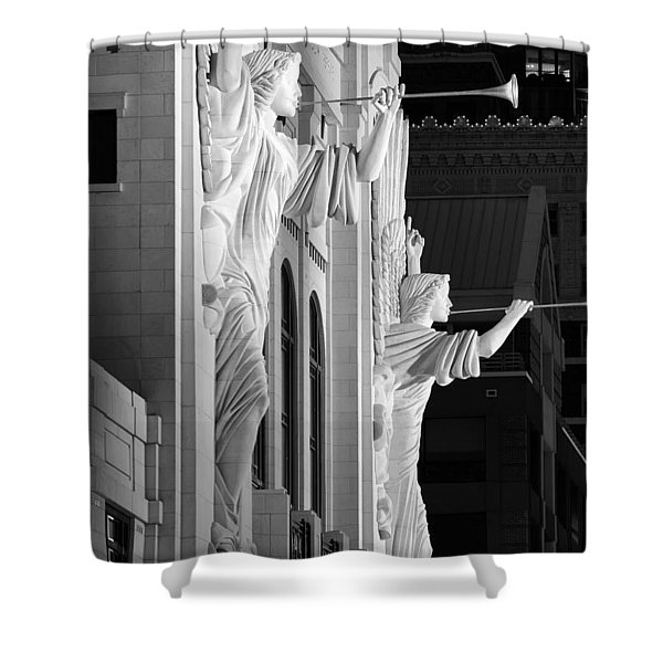 Bass Hall Fort Worth 520 Bw Shower Curtain