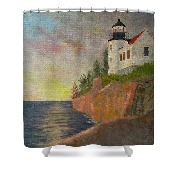 Bass Harbor Light Shower Curtain
