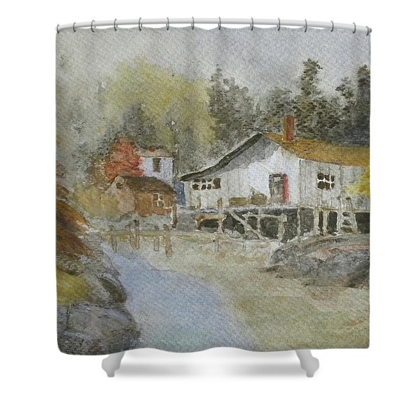 Bass Harbor Retreat Shower Curtain