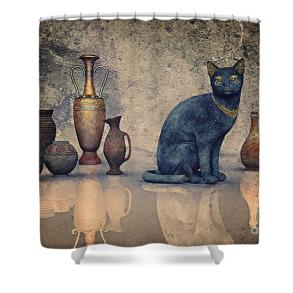 Bastet And Pottery Shower Curtain