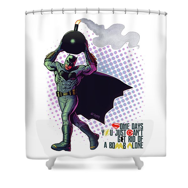 Batfleck And The Bomb 2 Shower Curtain