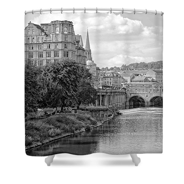 Bath On Avon By Mike Hope Shower Curtain