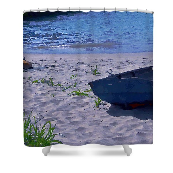 Bather By The Bay Shower Curtain