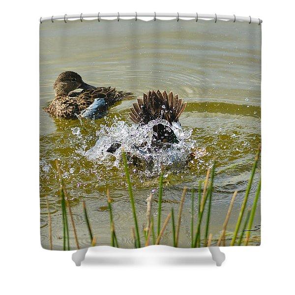 Bathing Shower Curtain