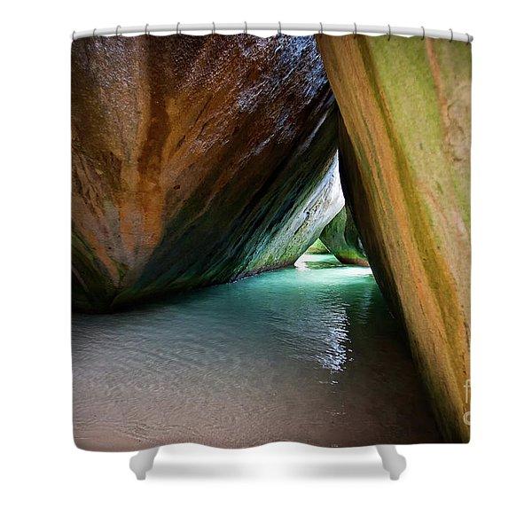 Baths At Virgin Gorda Shower Curtain