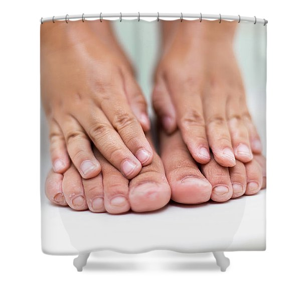 Bathtime Toes And Fingers Shower Curtain