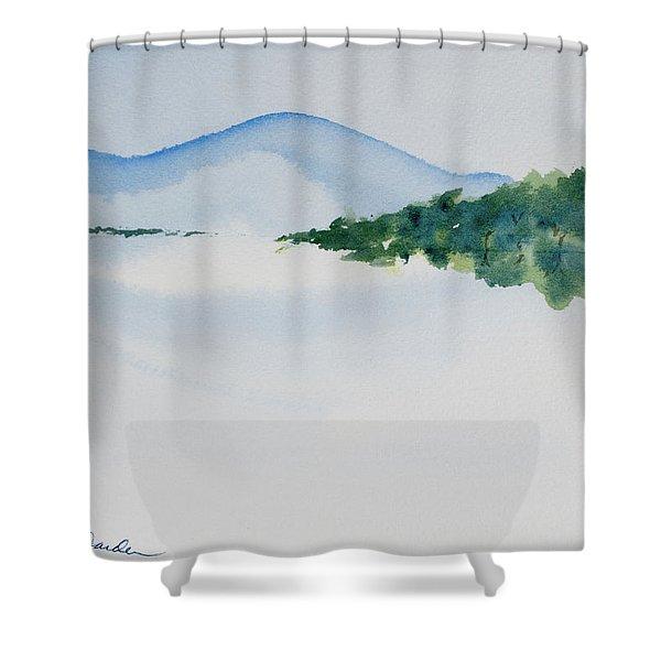 Bathurst Harbour Reflections Shower Curtain