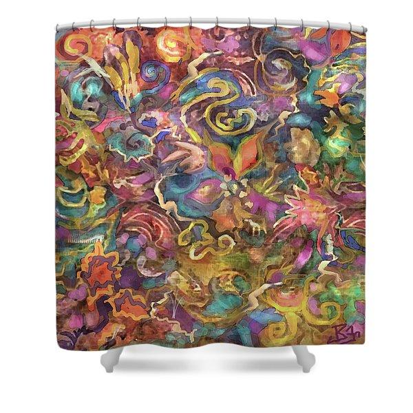 Batik Colorburst Shower Curtain