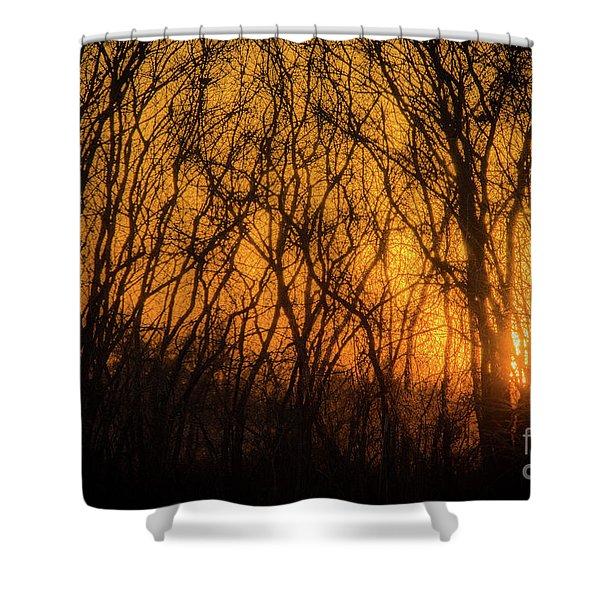 Batik Sunset Shower Curtain