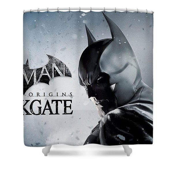 Batman Arkham Origins Blackgate Shower Curtain