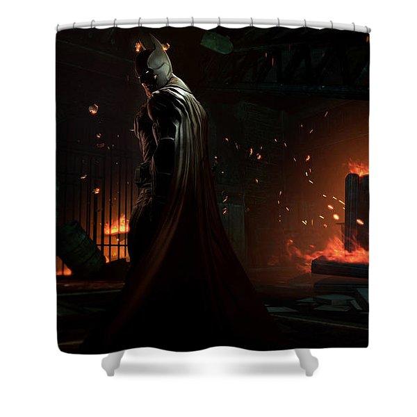 Batman Arkham Origins Shower Curtain