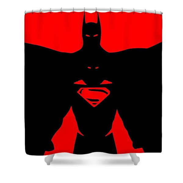 Batman/superman Shower Curtain