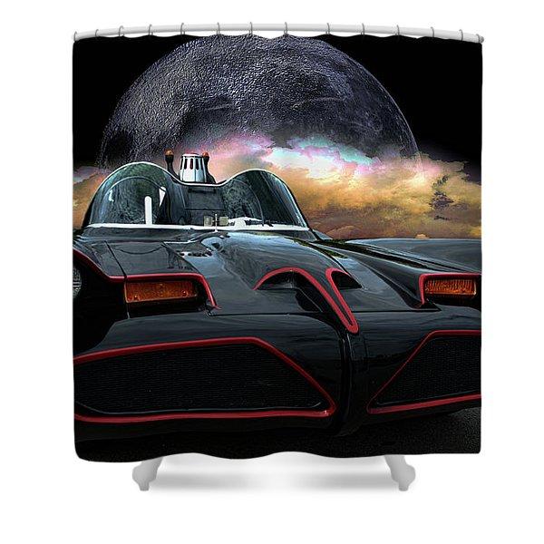 Batmobile Shower Curtain