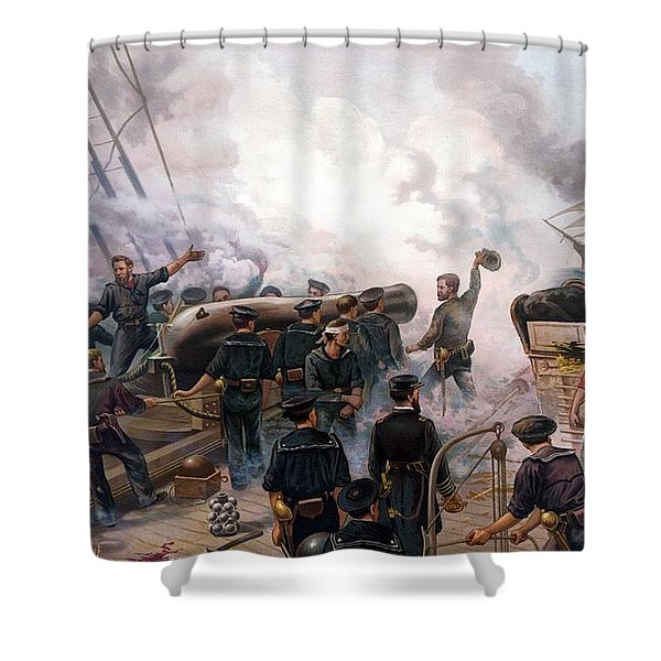 Battle Between Kearsarge And Alabama Shower Curtain