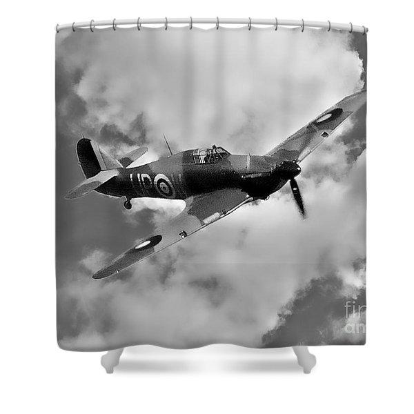 Battle Of Britain Hawker Hurricane Shower Curtain