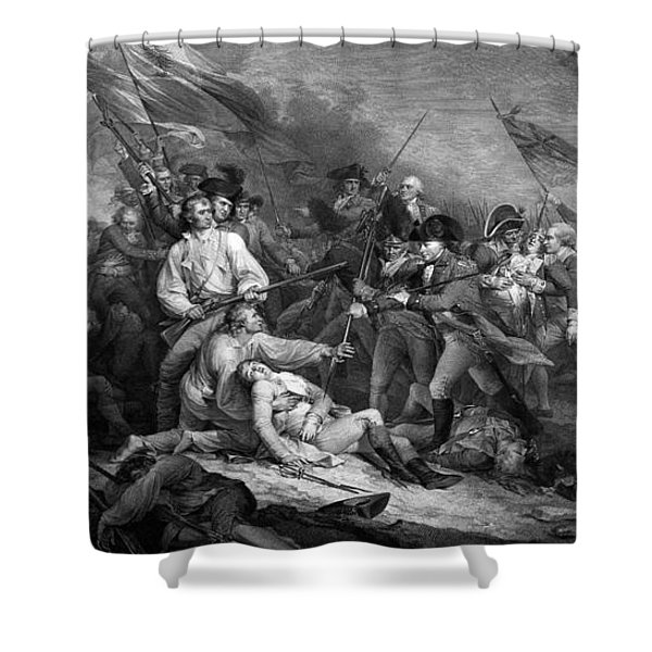 Battle Of Bunker Hill Shower Curtain