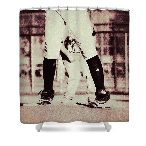 Battle On The Mound Shower Curtain