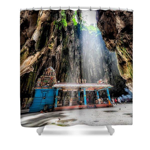 Batu Cave Sunlight Shower Curtain