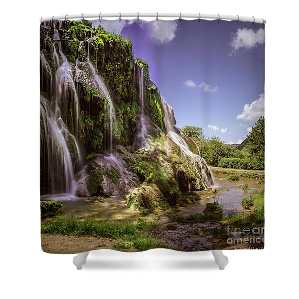 Baume Les Messieurs, France. Shower Curtain