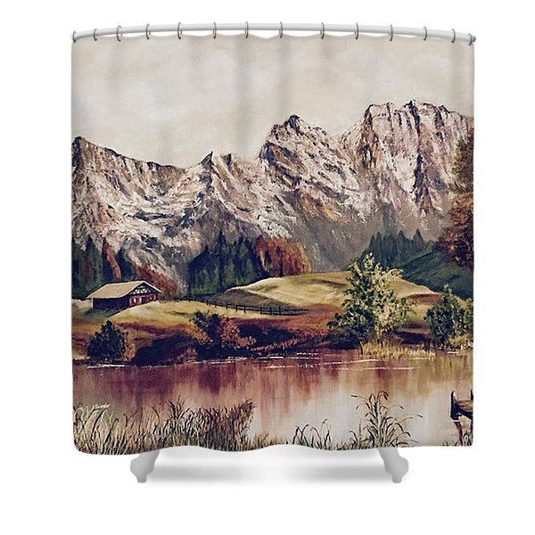 Bavarian Landscape Shower Curtain