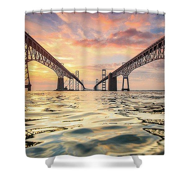 Bay Bridge Impression Shower Curtain